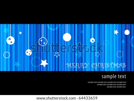 Abstract blue merry christmas background design (eps10) - stock vector