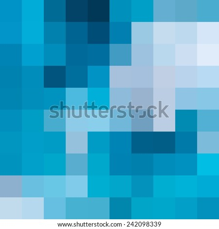 Abstract blue mosaic background - Vector - stock vector