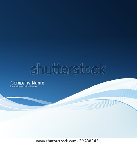 Abstract blue motion background. Good for financial annual cover design, brochures, booklets etc. - stock vector