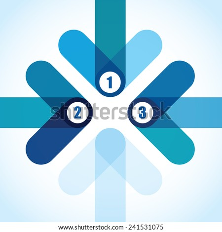 abstract blue overlapping arrow background - stock vector