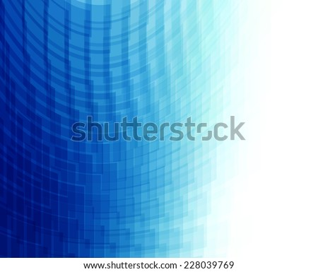 Abstract blue perspective background