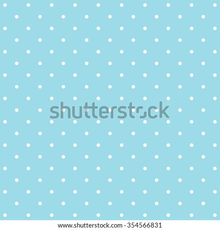 Abstract blue polka dot background pattern. Vector image. - stock vector