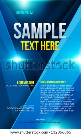 Abstract blue poster. Vector - stock vector