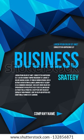 abstract blue poster vector vector de stock132856871 shutterstock