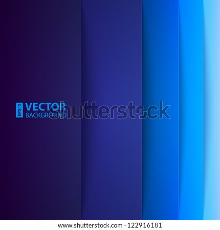 Abstract blue rectangle shapes background. RGB EPS 10 vector illustration - stock vector
