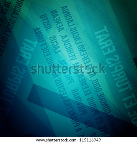 Abstract Blue Rusty Newspaper Vector Background | EPS10 Design
