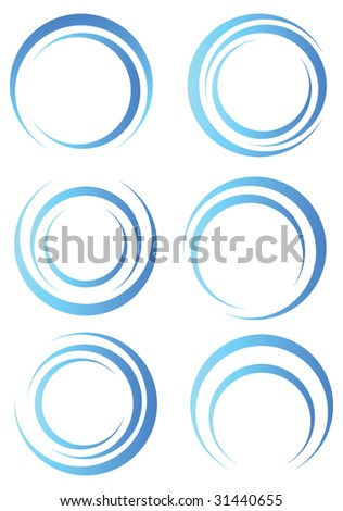 Abstract blue shapes - stock vector