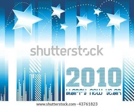 abstract blue shiny pattern background with star - stock vector