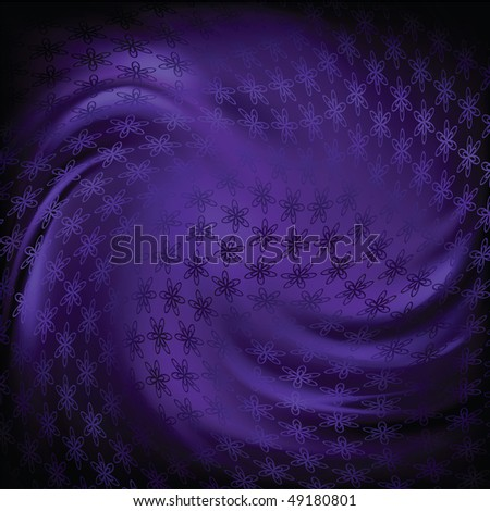 abstract blue silk background - stock vector