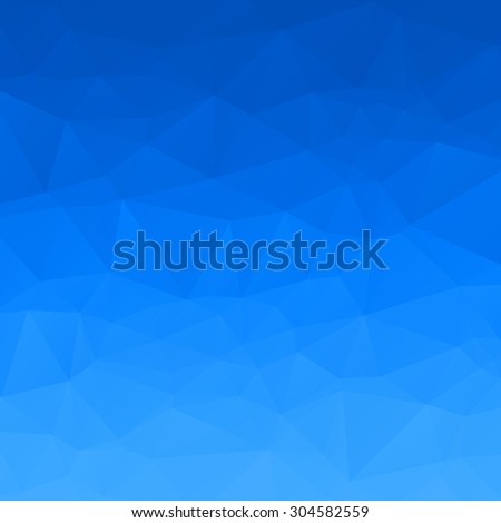 Abstract blue sky polygon background - stock vector