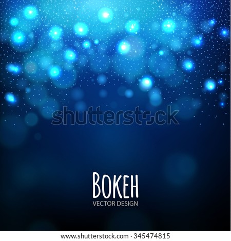 Abstract Blue Soft Bokeh Background. Vector illustration - stock vector