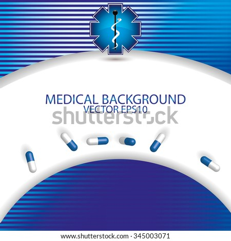 Abstract blue stripe medical background  - stock vector
