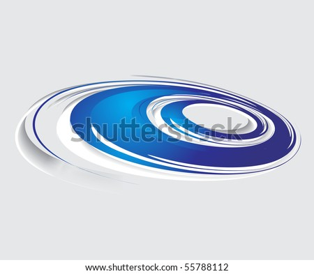 Abstract blue swirl wave background. vector illustration. - stock vector