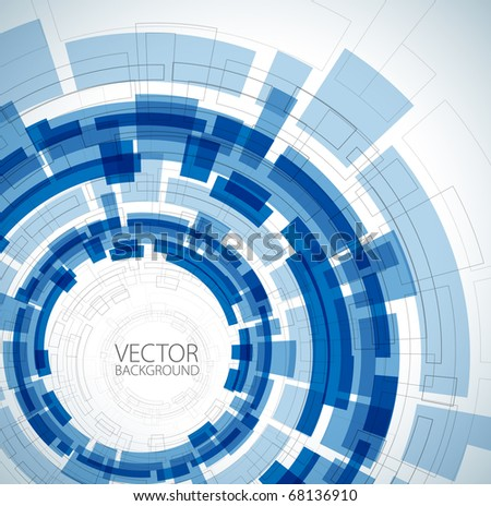 Abstract blue technical background with place for your text - stock vector