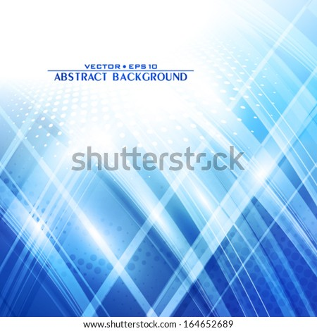 Abstract blue techno background. Vector - stock vector