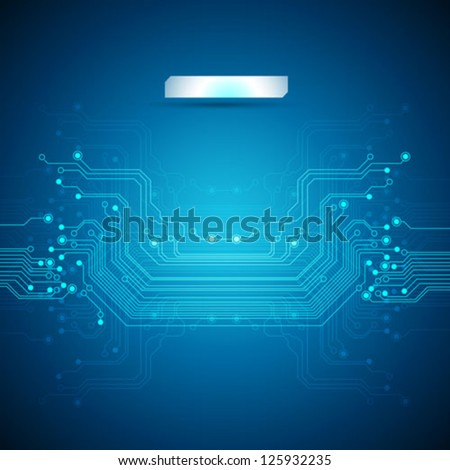 abstract blue technology background - vector - stock vector
