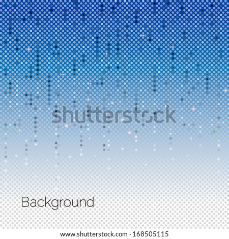 Abstract Blue Technology Background, vector illustration - stock vector