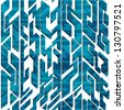abstract blue technology seamless pattern - stock photo