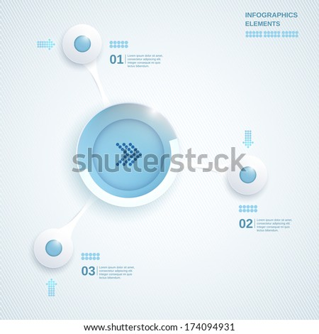 Abstract blue template for business and infographic - stock vector