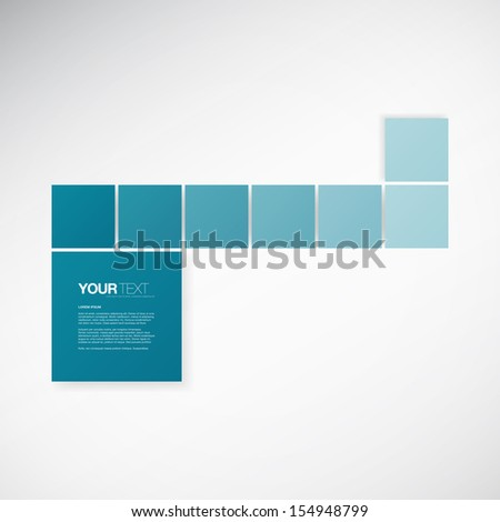 Abstract blue text box design with your text Eps 10 vector illustration - stock vector