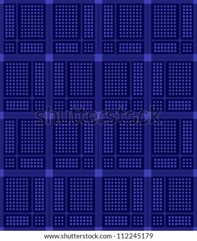 Abstract blue textile pattern, vector illustration