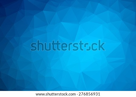 Abstract Blue Triangular Background 3 - stock vector