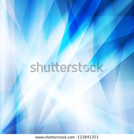 Abstract blue vector background template - stock vector