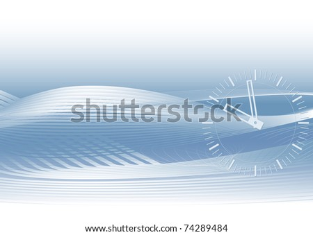 Abstract blue vector background with gradients and watch eps8 - stock vector
