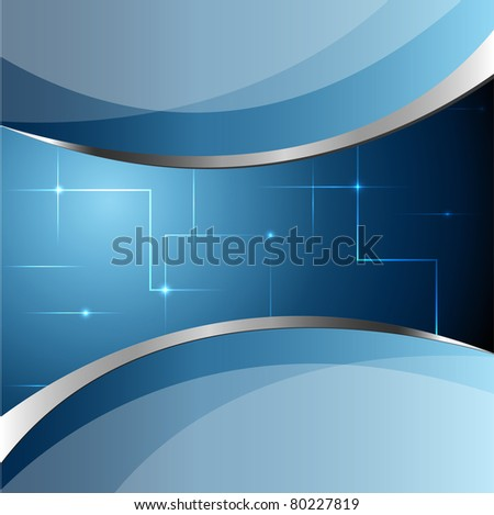 Abstract blue vector business background - stock vector