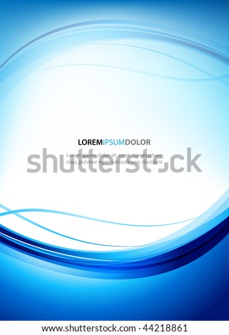 Abstract Blue Vector Design Template - stock vector