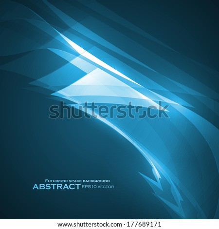 Abstract blue vector illustration, technology background eps10 - stock vector