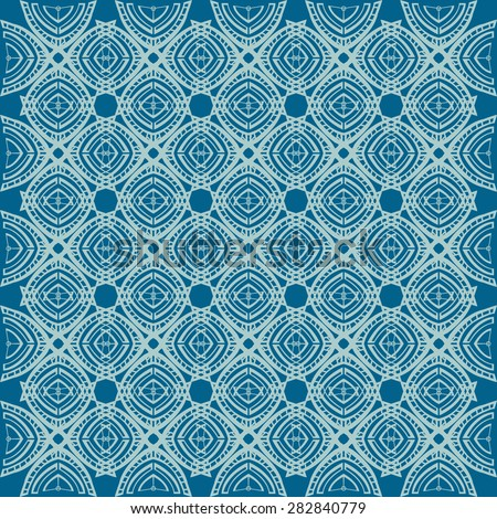 Abstract blue Wallpaper with a simple repeating pattern, vector illustration