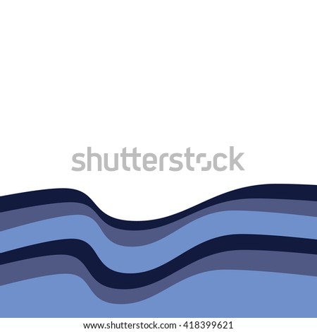 Abstract blue wave background. Water wave background vector illustration. Overlapping curve wave background. - stock vector
