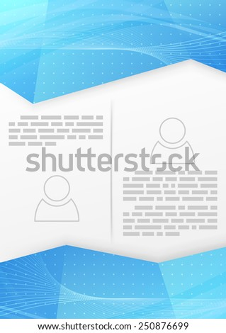 Abstract blue wave crystal brochure template. Vector illustration - stock vector