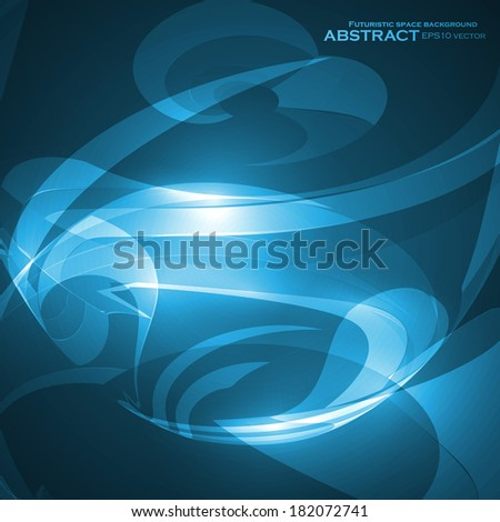 Abstract blue, wave vector background, futuristic illustration eps10