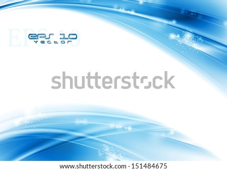 Abstract blue waves background. Vector illustration eps 10 - stock vector