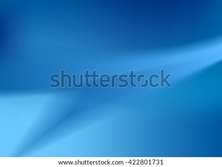 Abstract blue wavy vector background - stock vector
