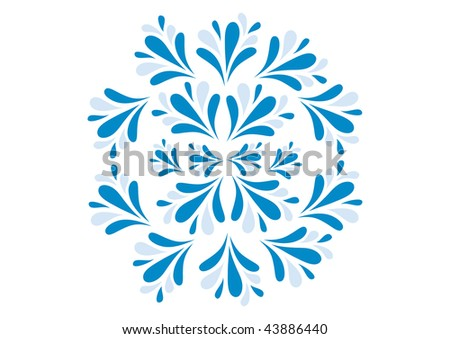 Abstract blue winter pattern, vector illustration - stock vector