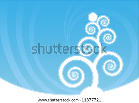 Abstract blue winter vector composition - stock vector