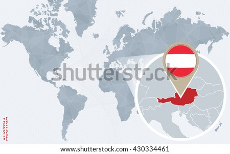 Infographic Austria Detailed Map Austria Flag Stock Vector - Austria on the world map