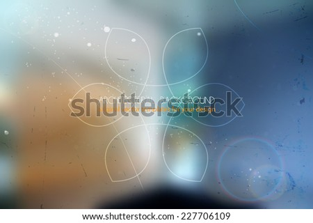 abstract blurred vector background with architectural motive - stock vector