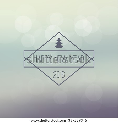 Abstract blurred vector background with sparkle stars and hipster border, frame. For decorations for Merry Christmas, New Year, festivals,  xmas, glamour holiday, illuminated, celebration. 2016 - stock vector