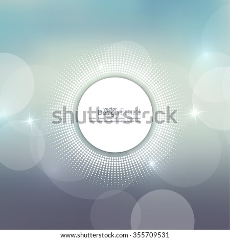 Abstract blurred vector background with sparkle stars with round banner dots. for Merry Christmas, New Year, anniversaries, festivals, birthday, Xmas. - stock vector