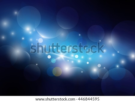 Abstract bokeh background. Blue tone color. circle shape concept. vector design