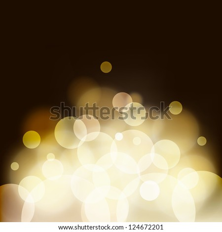 Abstract bokeh background, vector illustration - stock vector
