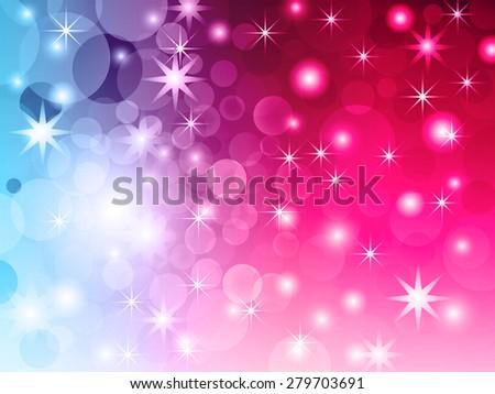 Abstract bokeh vivid light vector background.  - stock vector