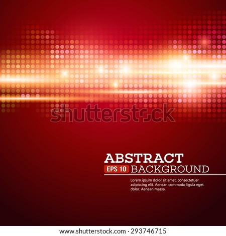Abstract  bokhe lights background. Disco music. Vector illustration. EPS 10 - stock vector