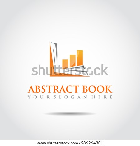 Abstract Book Logo Template Technology Education Stock Vector ...