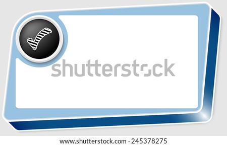 abstract box for any text and check box - stock vector