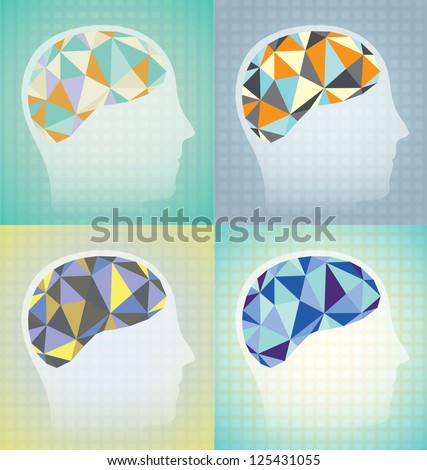 Abstract Brain Synapses Graphics - stock vector